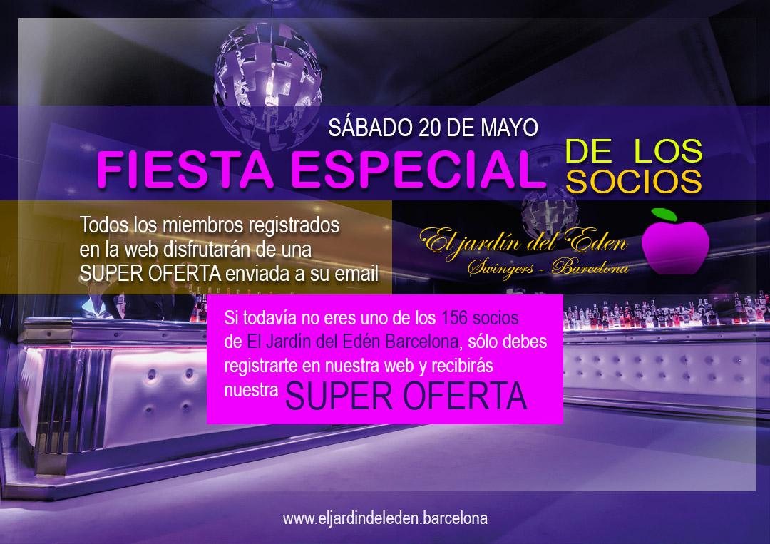 20 de mayo fiesta socios el jard n del ed n barcelona