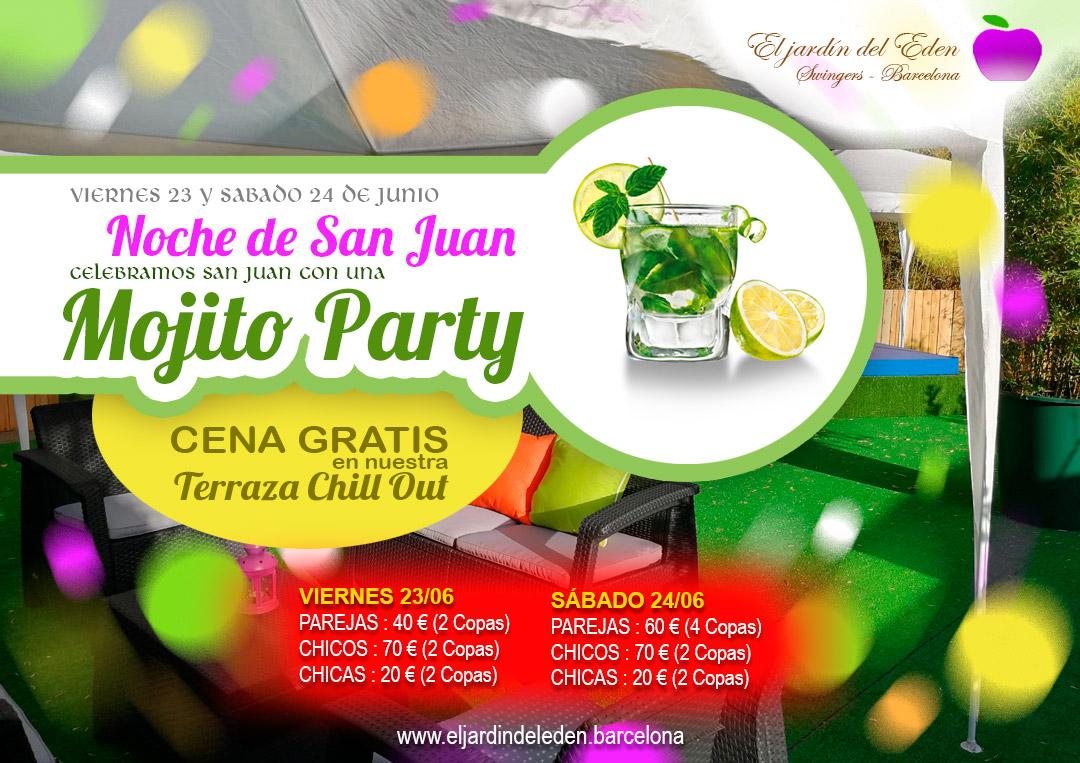 23 y 24 de junio noche de san juan mojito party el for El jardin del eden montornes