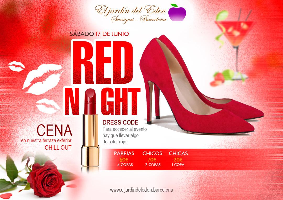 17 junio red night el jard n del ed n barcelona for El jardin del eden montornes