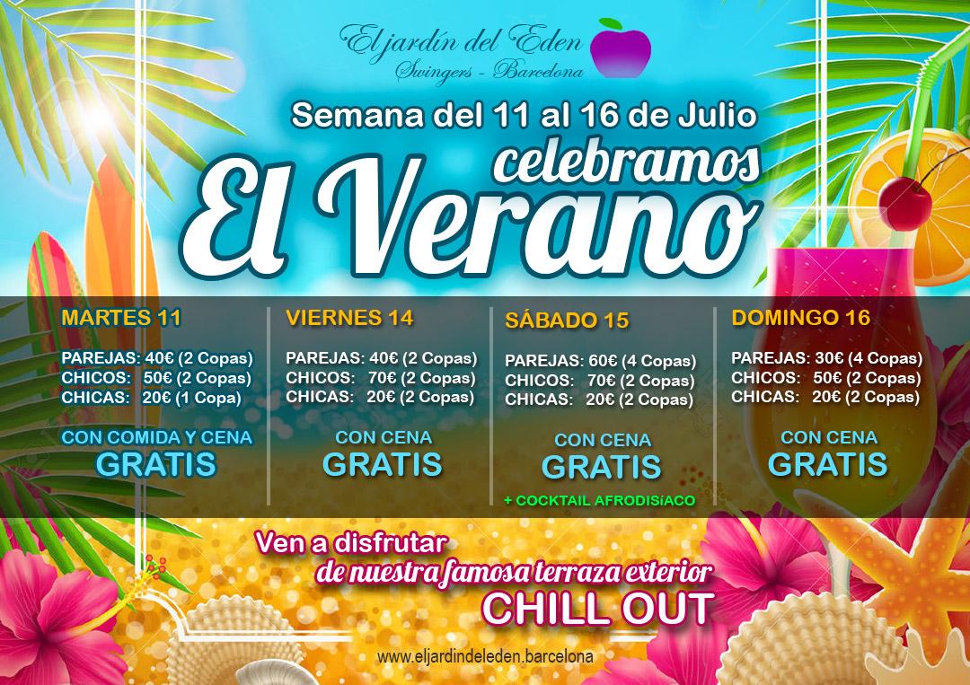 Fiesta verano el jard n del ed n barcelona for El jardin del eden montornes