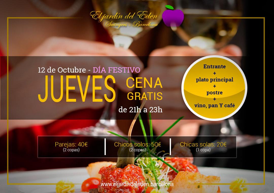 Jueves 12 10 cena gratis el jard n del ed n barcelona - El jardin del eden barcelona ...