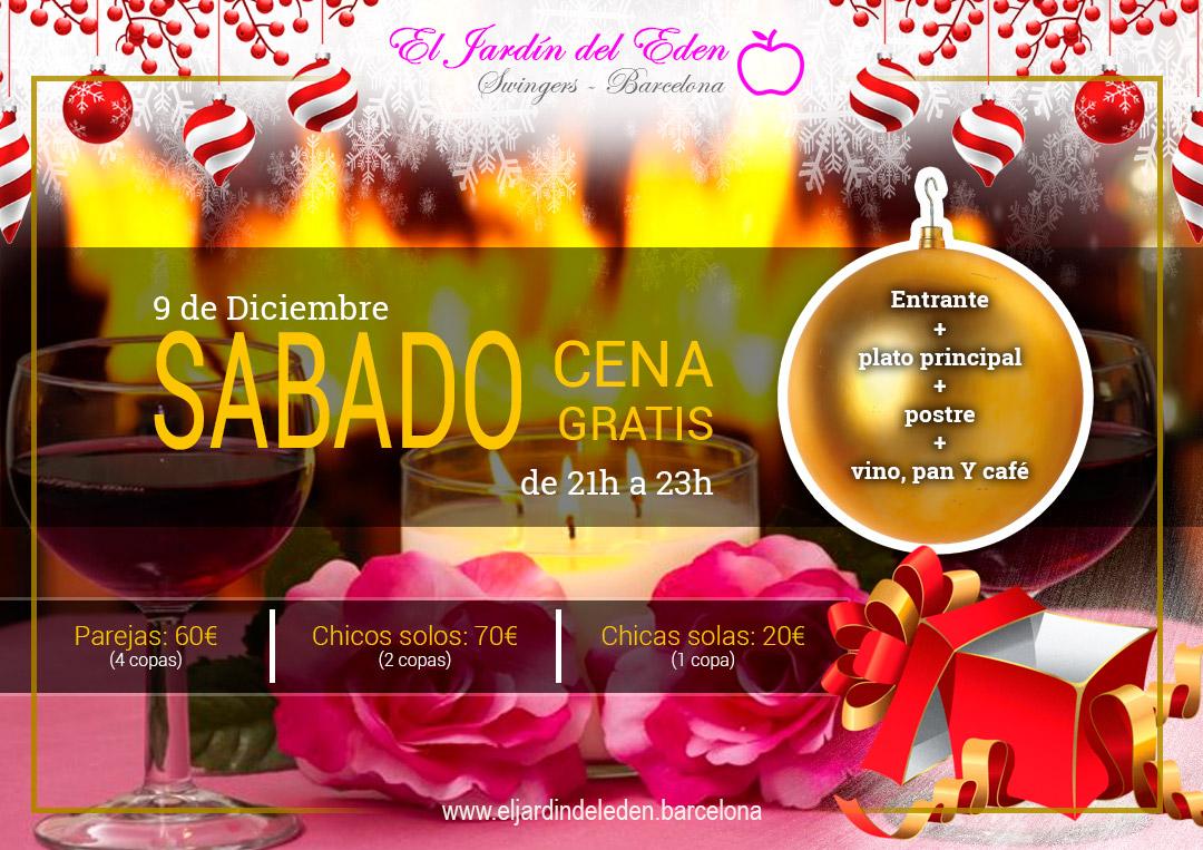 S bado 9 12 cena gratis el jard n del ed n barcelona - El jardin del eden barcelona ...