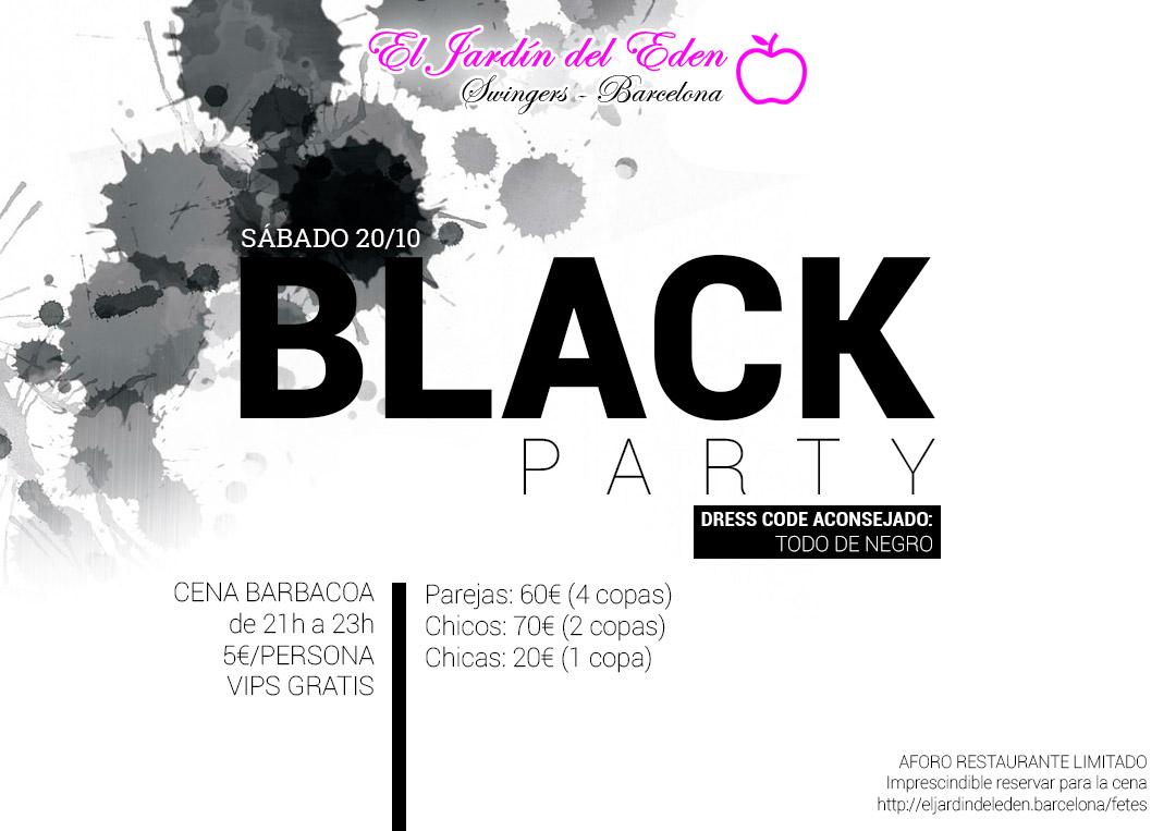 S bado 20 10 black party el jard n del ed n barcelona - El jardin del eden barcelona ...