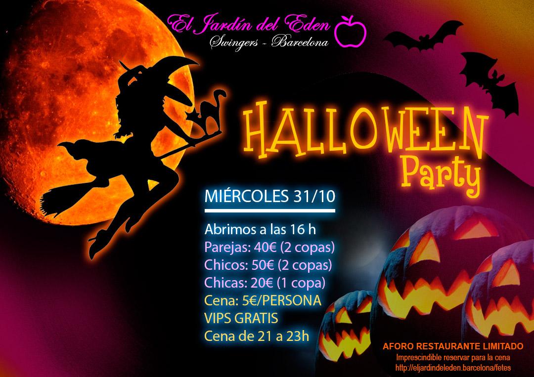 Mi rcoles 31 1o halloween el jard n del ed n barcelona - El jardin del eden barcelona ...